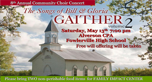 8th Community Choir Concert Flyer landscape